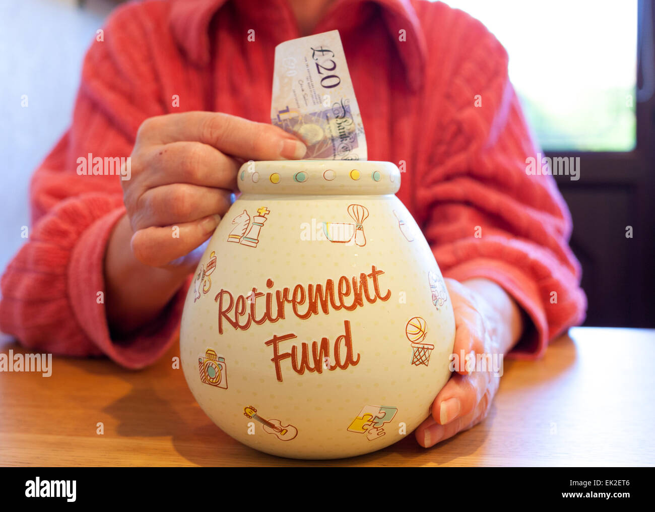 Retirement pension fund savings. - Stock Image