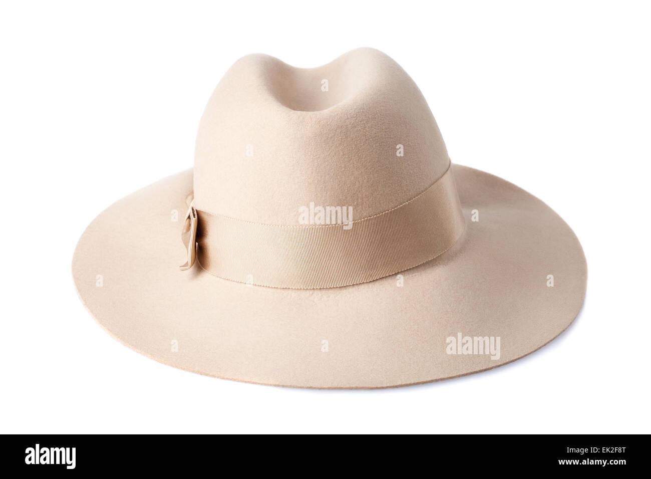 de33ac64ceb81 Beige Felt Hat Stock Photos   Beige Felt Hat Stock Images - Alamy