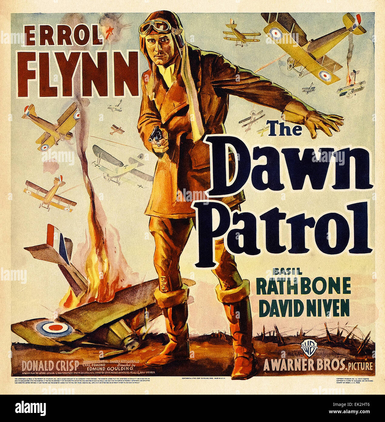 The Dawn Patrol  - Movie Poster - Stock Image