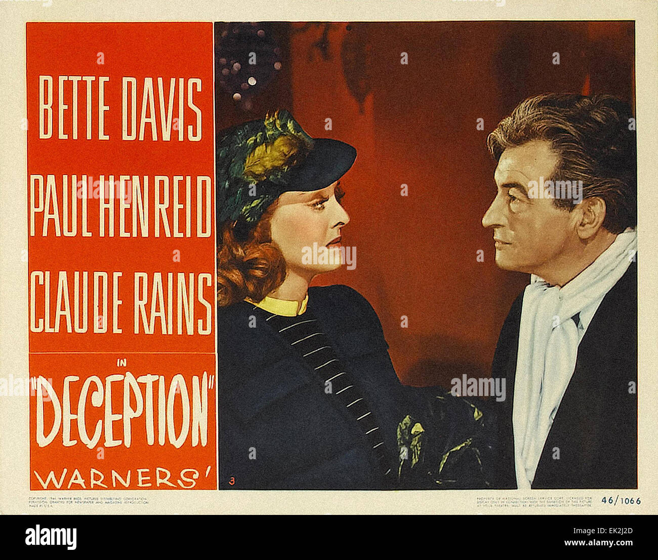 Deception - 1946 - Movie Poster - Stock Image