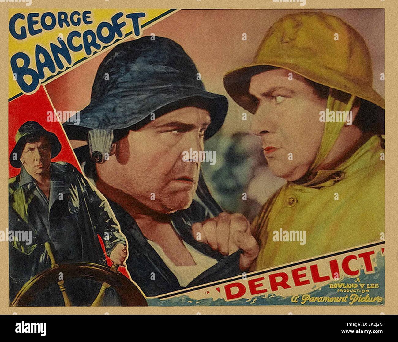 Derelict - 1930 - Movie Poster - Stock Image