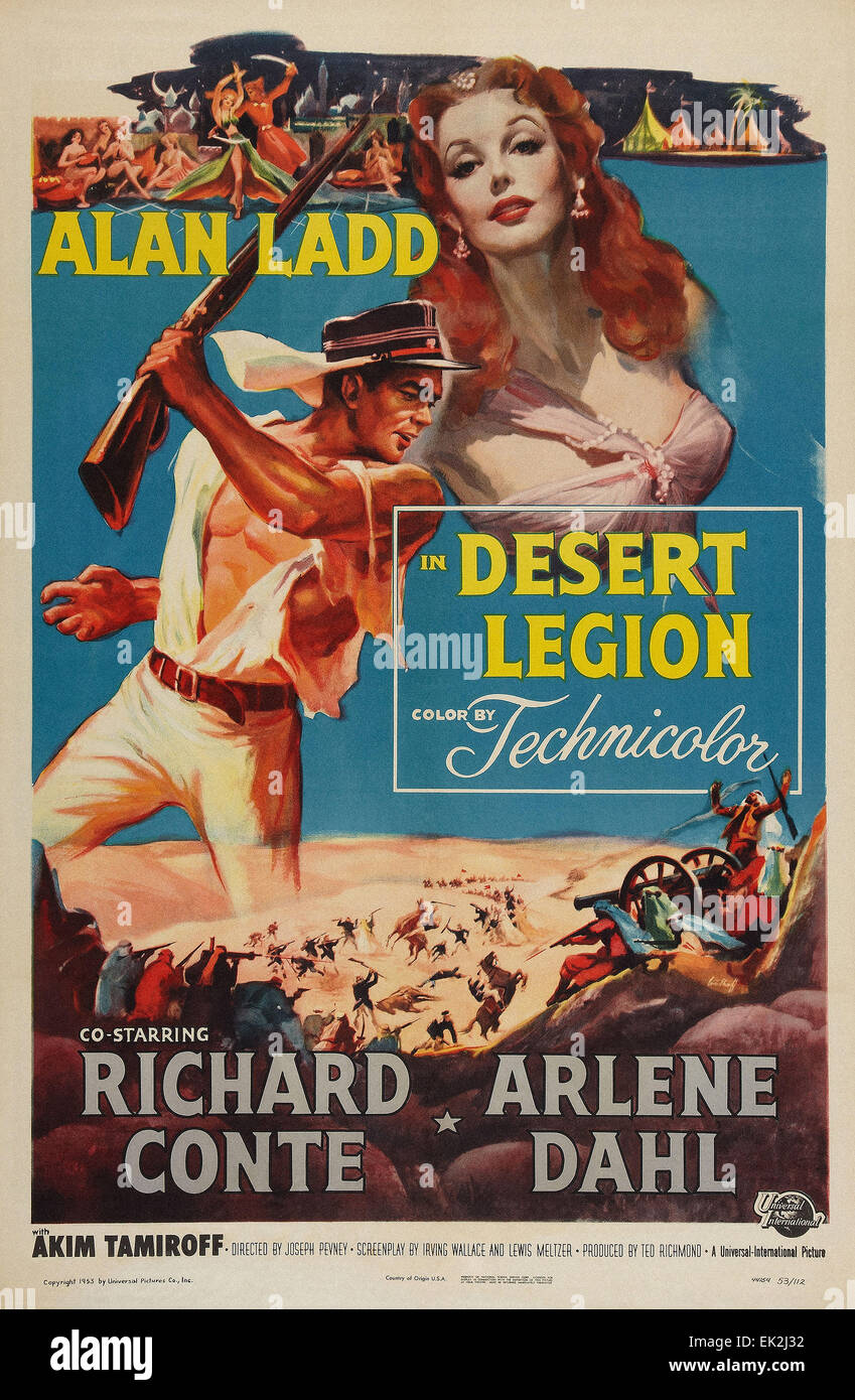 Desert Legion  - Movie Poster - Stock Image