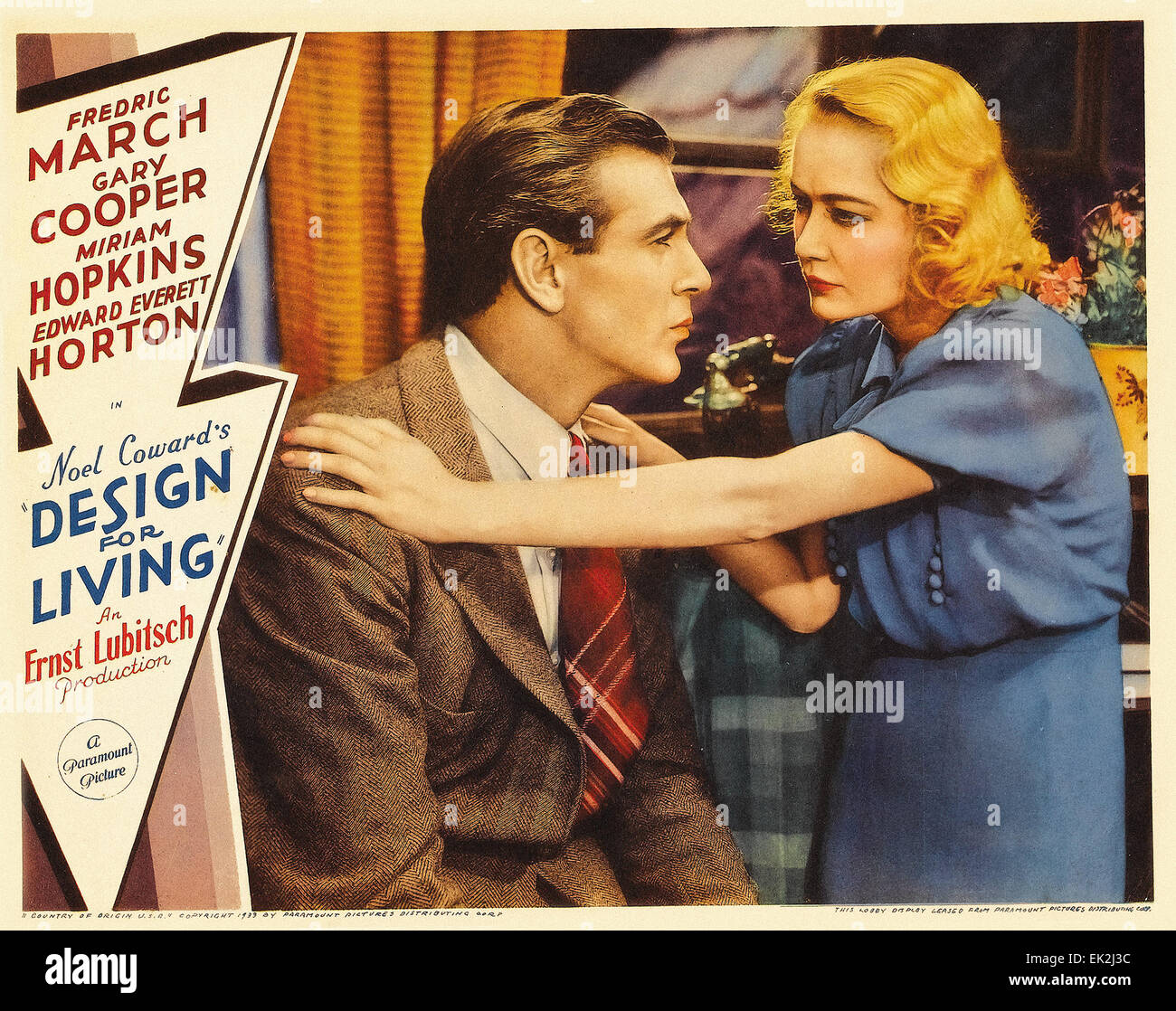 Design for Living - Movie Poster - Stock Image