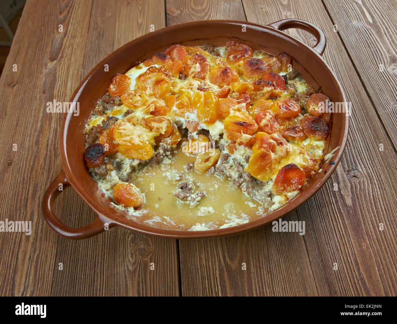 Babute - African dish,  originating region of the Congo. - Stock Image