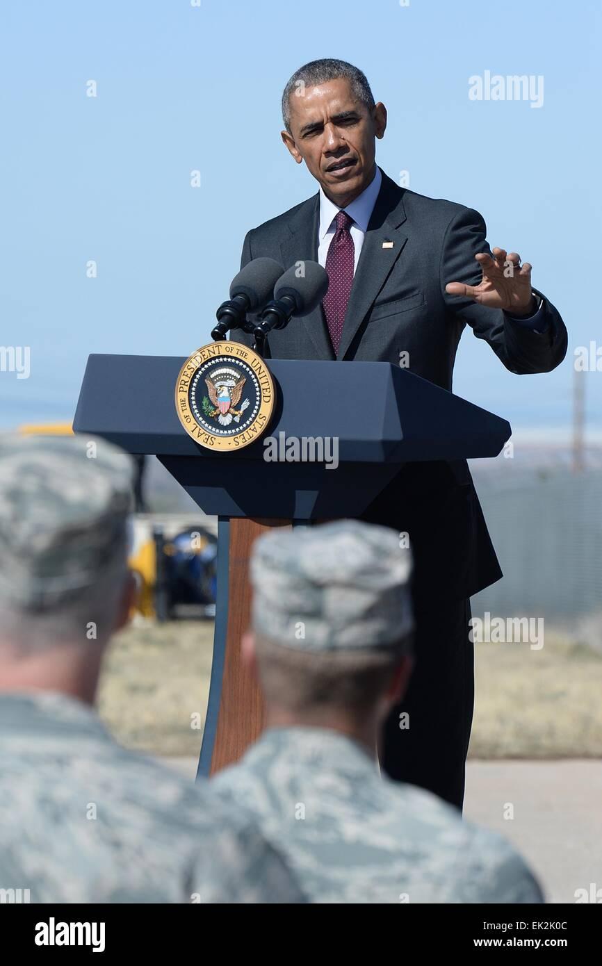 US President Barack Obama announces the Solar Veterans program to train unemployed military veterans for jobs in - Stock Image