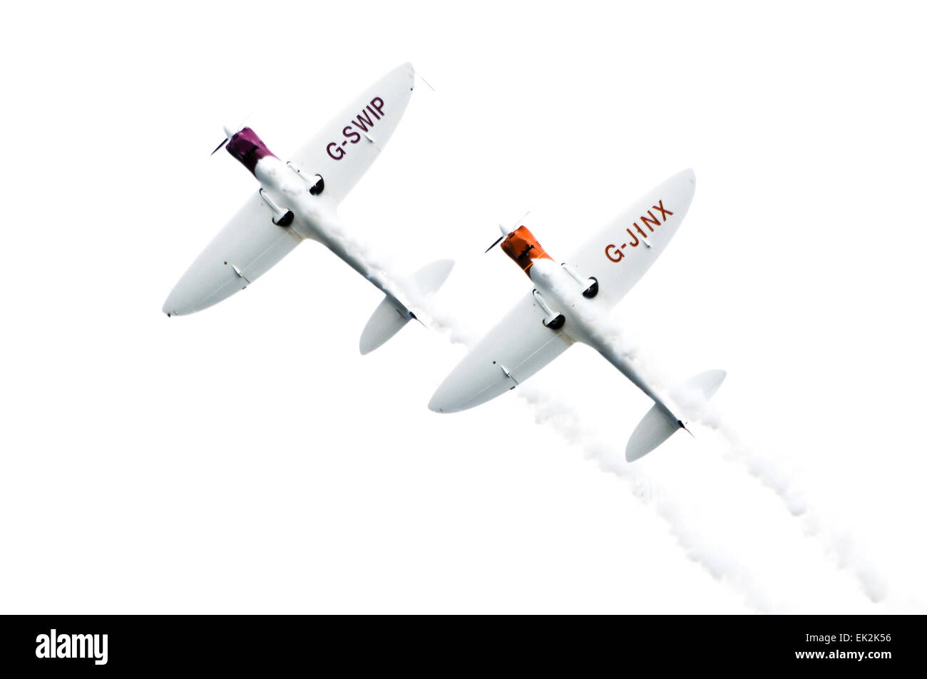 Silence Twisters (G-SWIP and G-JINX) from the  Twister Team flying in close formation - Stock Image