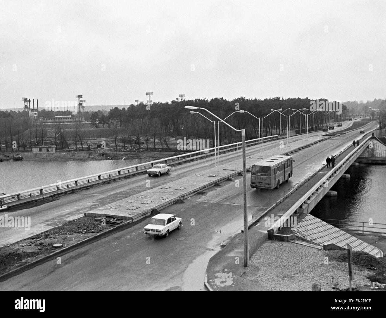 Constructed The Bridge Black and White Stock Photos & Images - Alamy