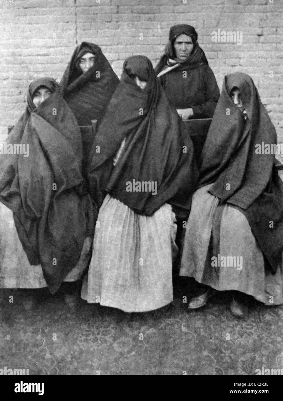 Russian Empire. Women of the pre-revolutionary Azerbaijan. - Stock Image