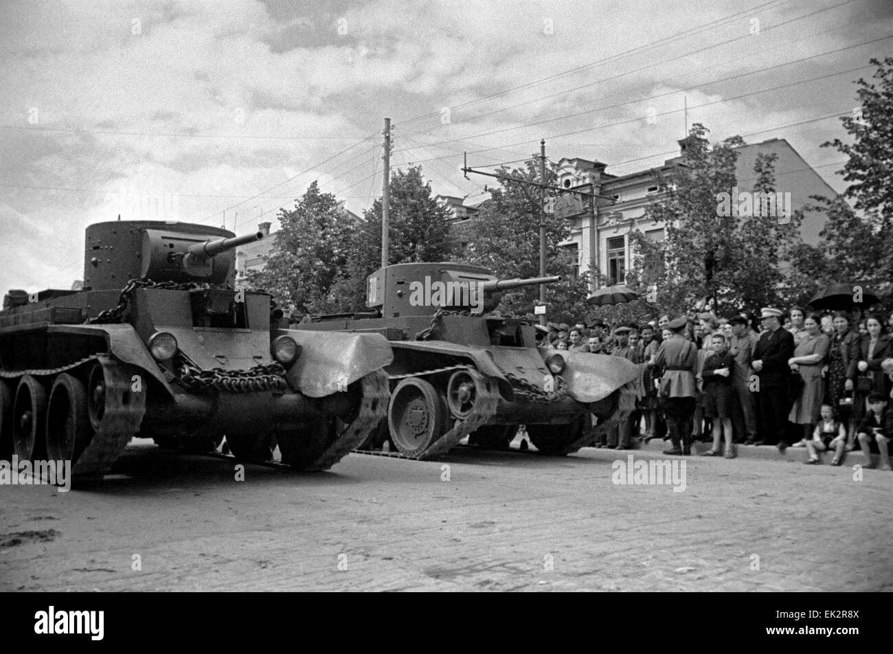 Kishinev. A military parade of the Red Army was held in view of the liberation of Bessarabia. - Stock Image