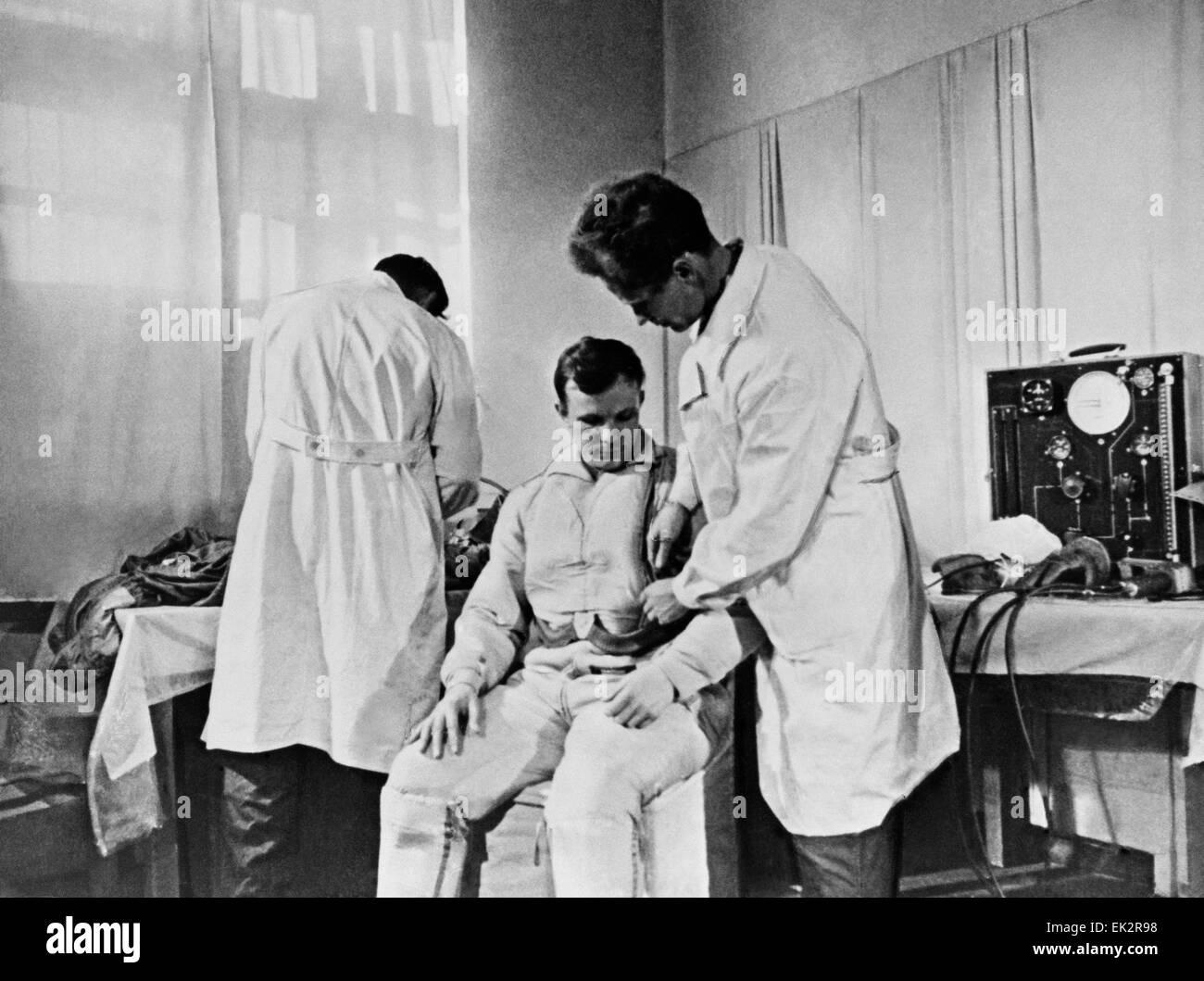 Kazakh SSR. Baikonur Cosmodrome. First spaceman Yuri Gagarin. - Stock Image