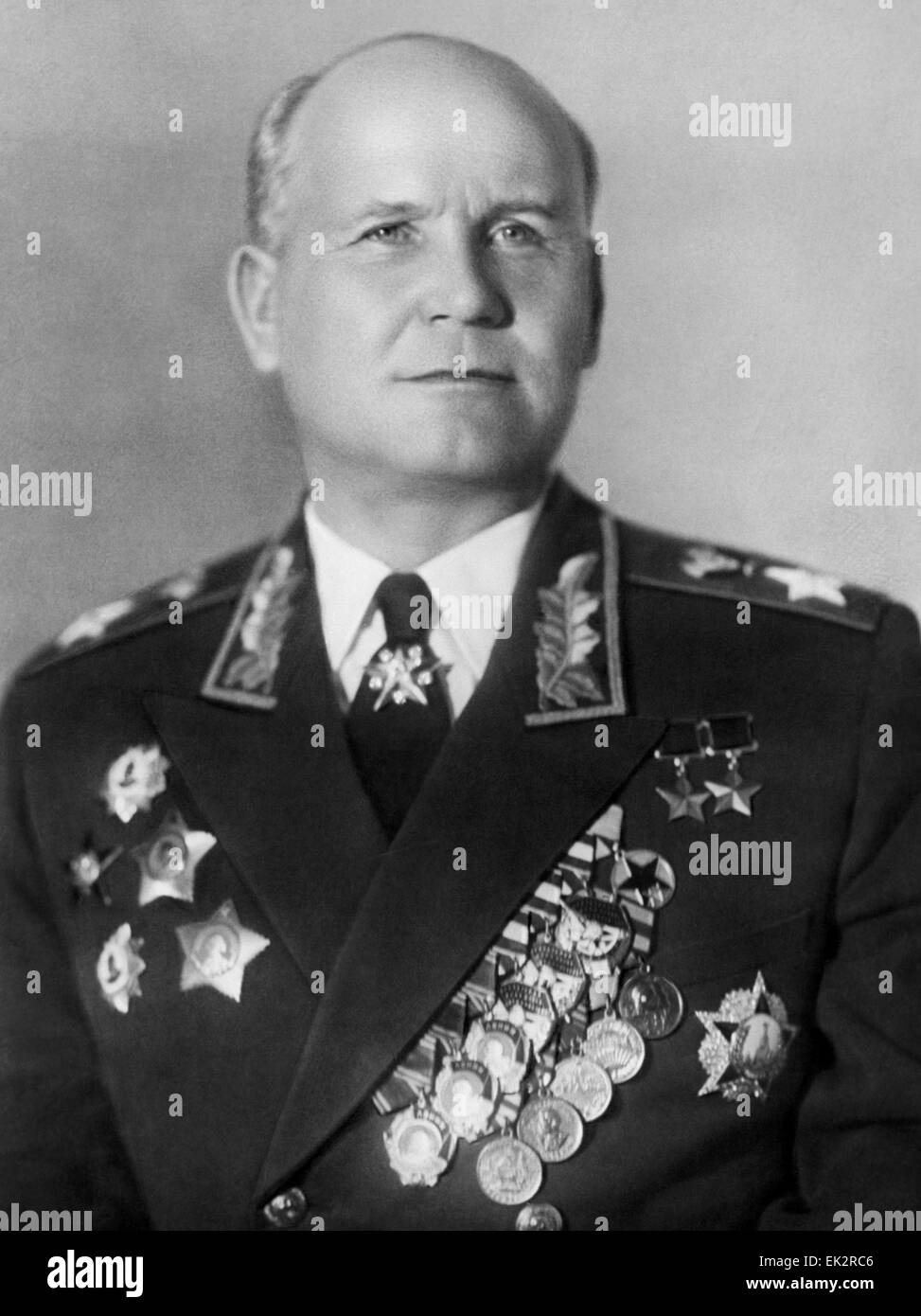 Moscow. Marshal of the Soviet Union Ivan Konev. - Stock Image