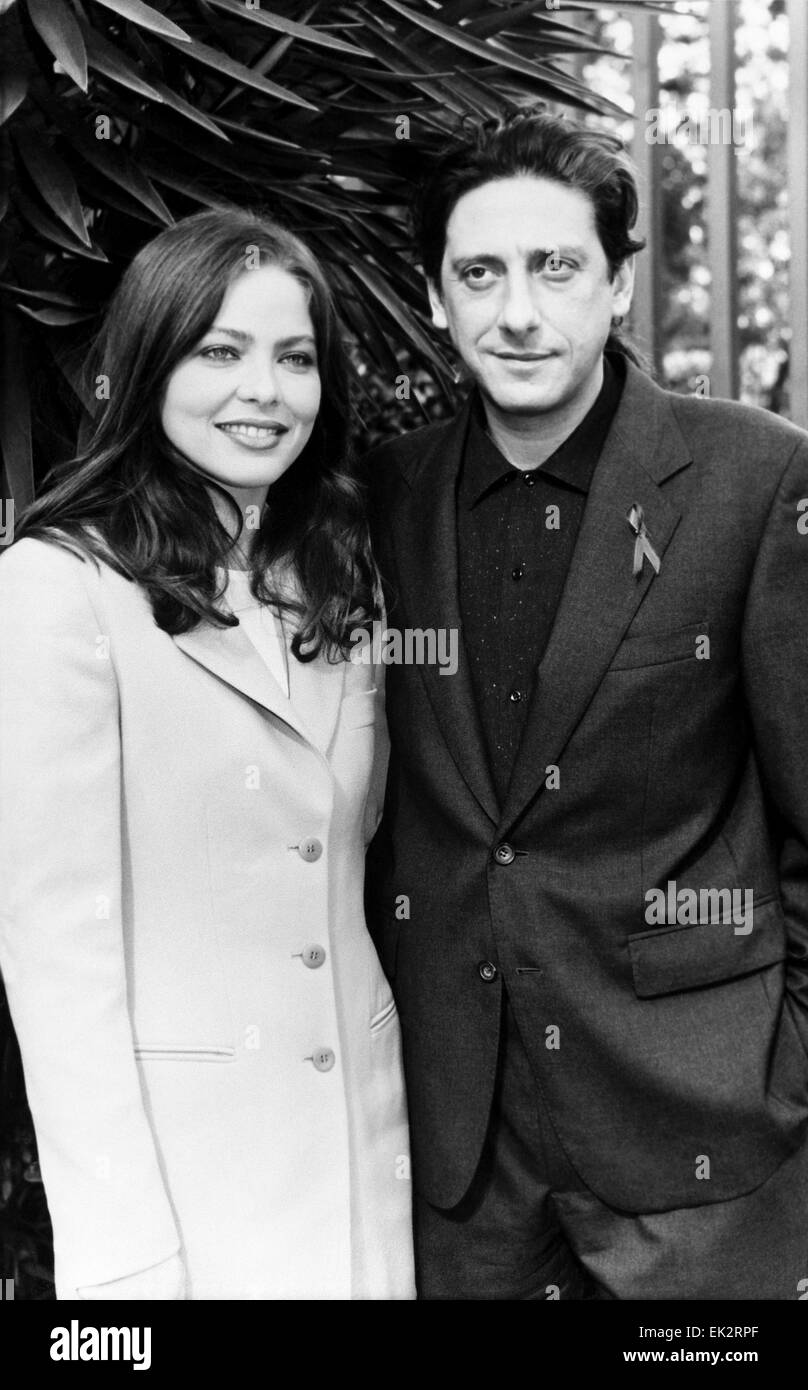 """Rome. Movie actors Ornella Muti and Sergio Kastellito at the presentation of the film """"Great Faust"""". Reproduction. Stock Photo"""