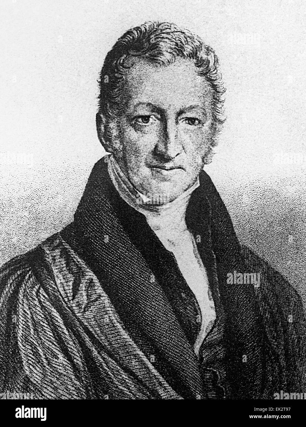 Great Britain. English economist Thomas Robert Malthus. Reproduction. - Stock Image