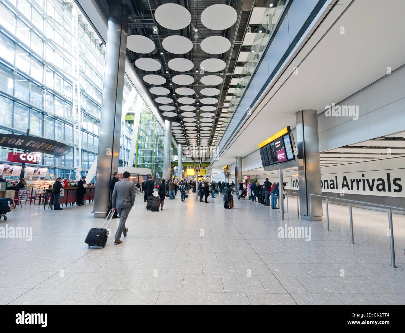 International Arrivals at Heathrow airport in Britain - Stock Image