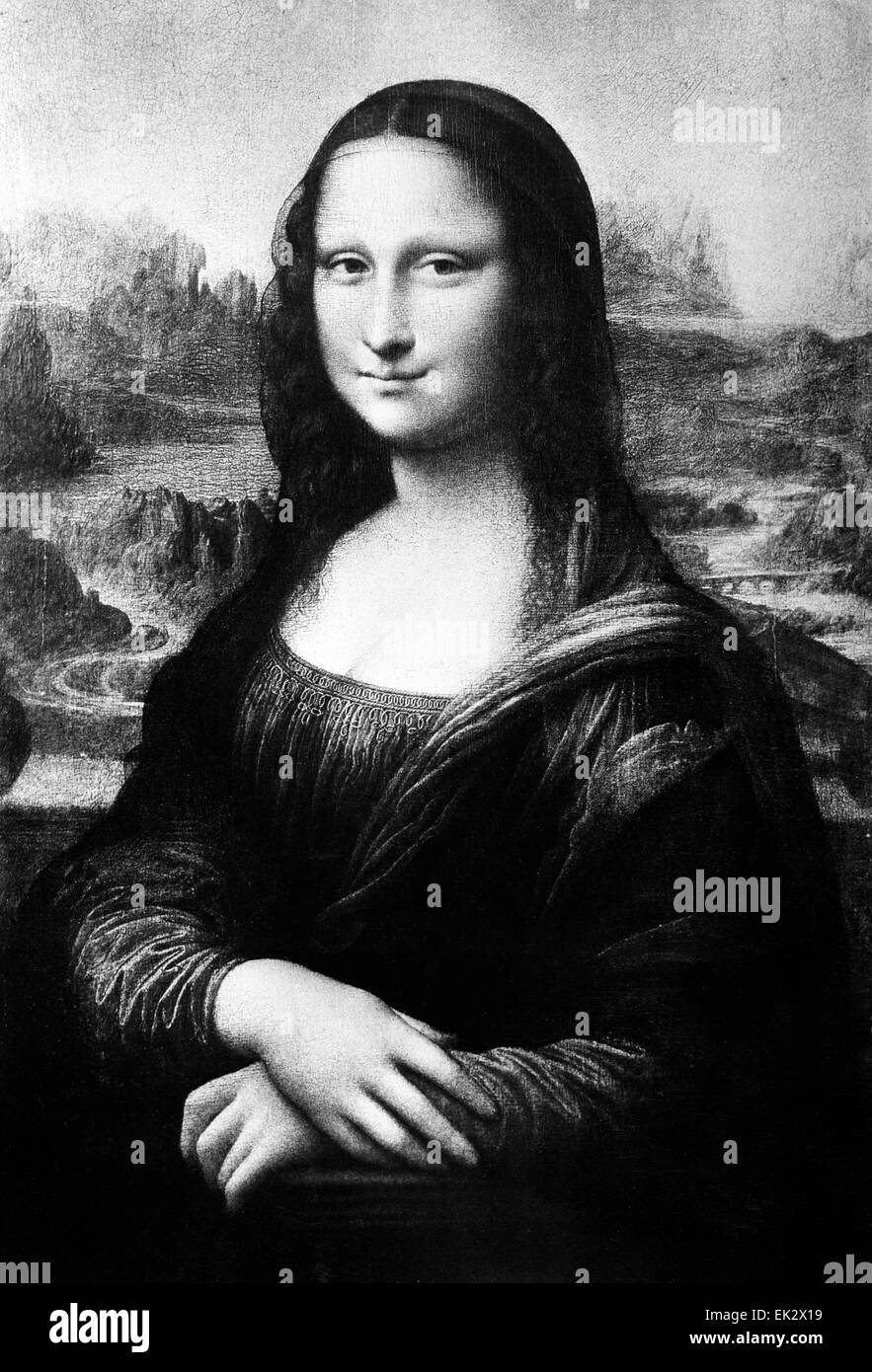 Mona Lisa Black And White Stock Photos Images Alamy