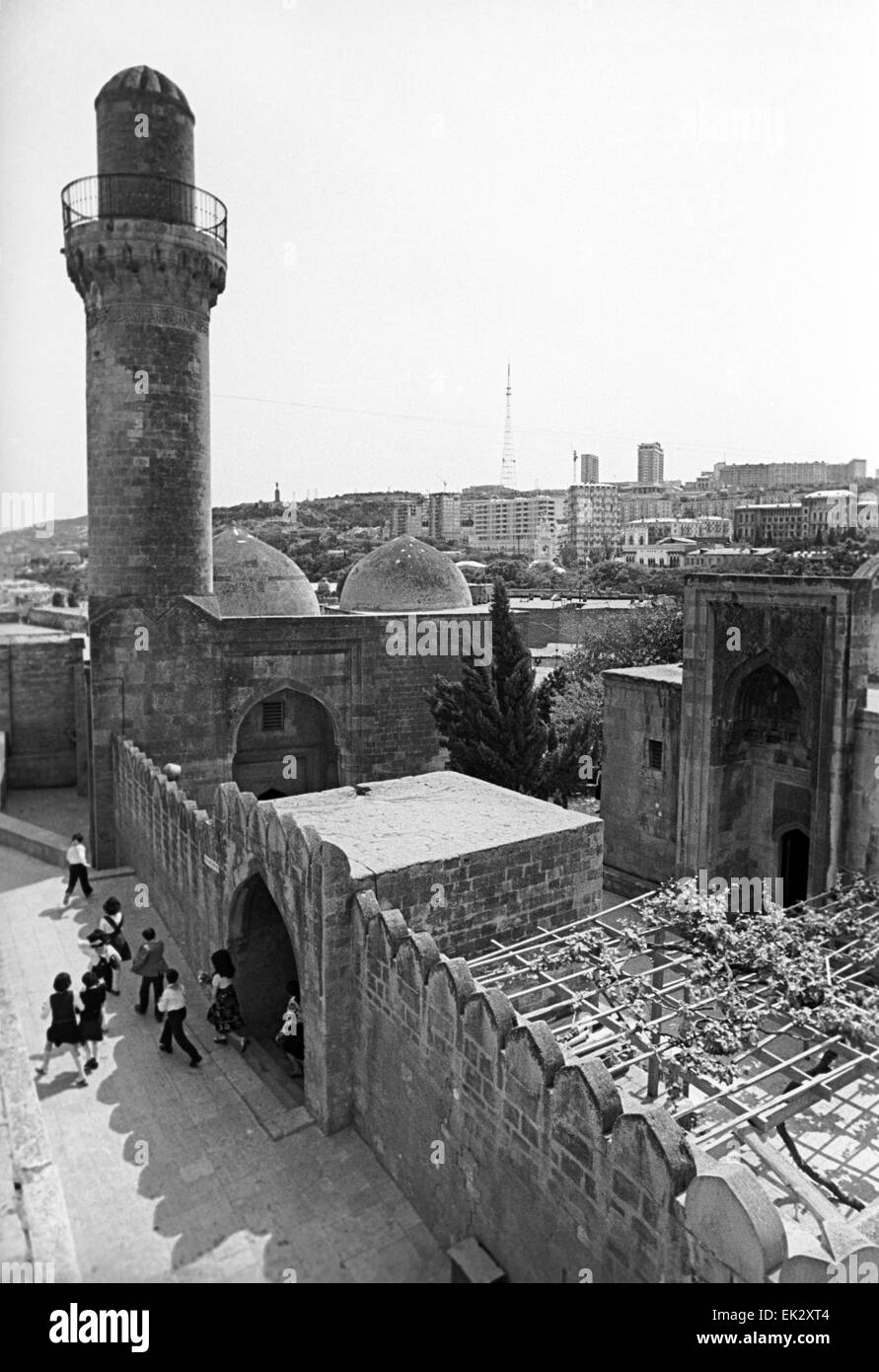 Azerbaijani SSR. Baku. 'Icheri-shekher' fortress in a history part of the city. - Stock Image