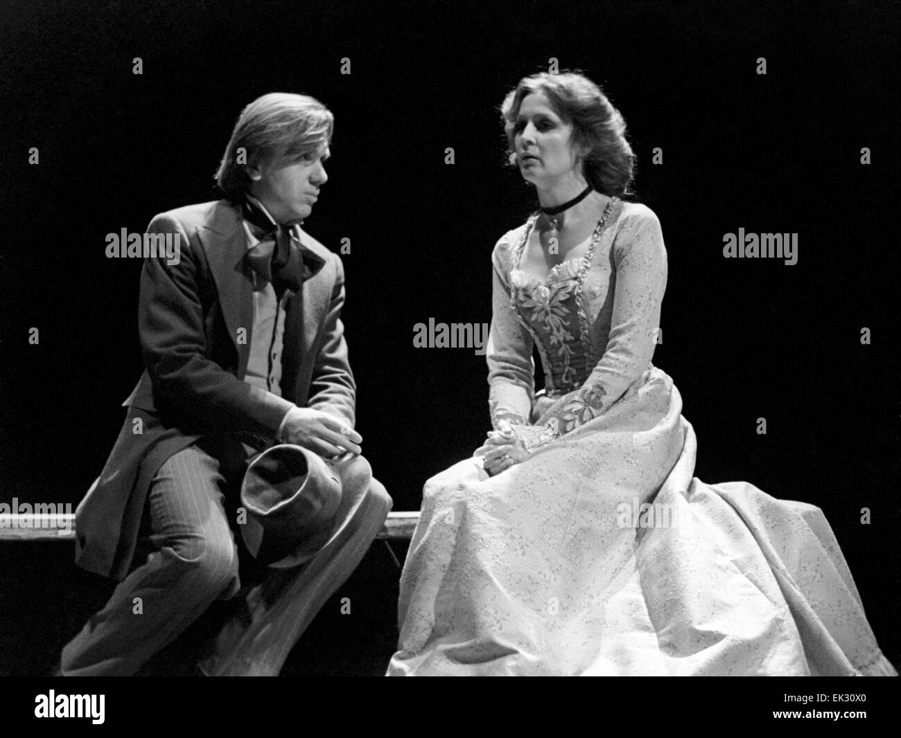 Moscow. USSR. Performance 'The Brothers Karamazov' directed by Pavel Khomsky. Actors Yevgeny Steblov as - Stock Image