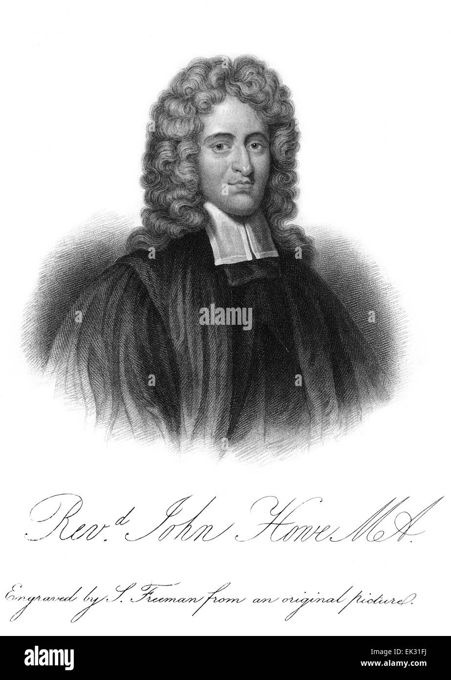 engraved portrait illustration of Rev John Howe (1630-1705) was an English Puritan theologian. He served briefly - Stock Image