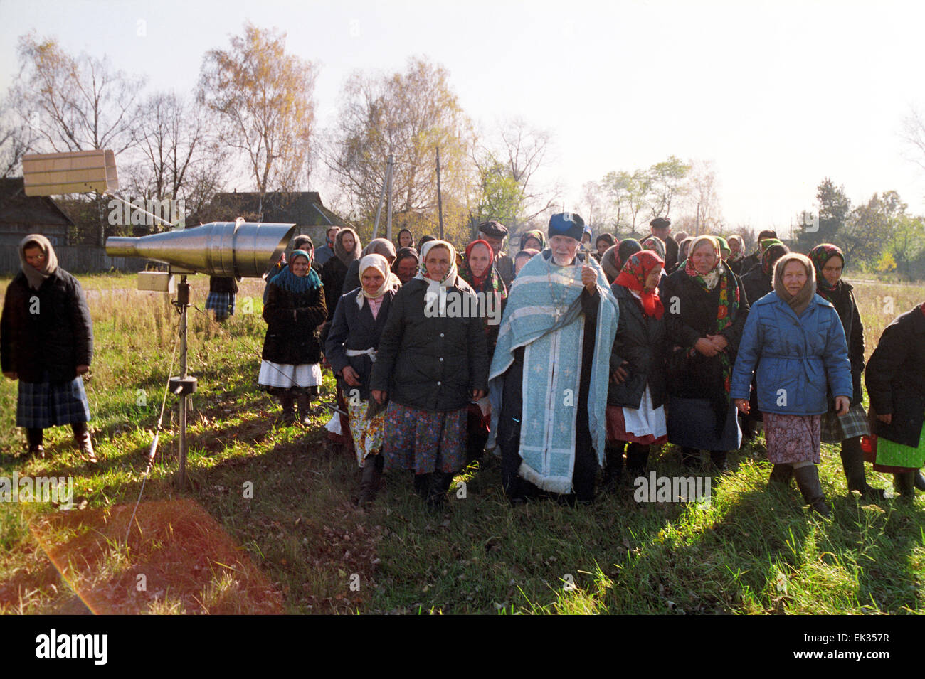 Ukrainian SSR. USSR. People returned their homes on the the radioactive territory. - Stock Image