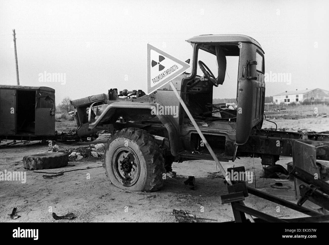 Ukrainian SSR. USSR. Radioactive machinery after the Chernobyl Disaster. - Stock Image