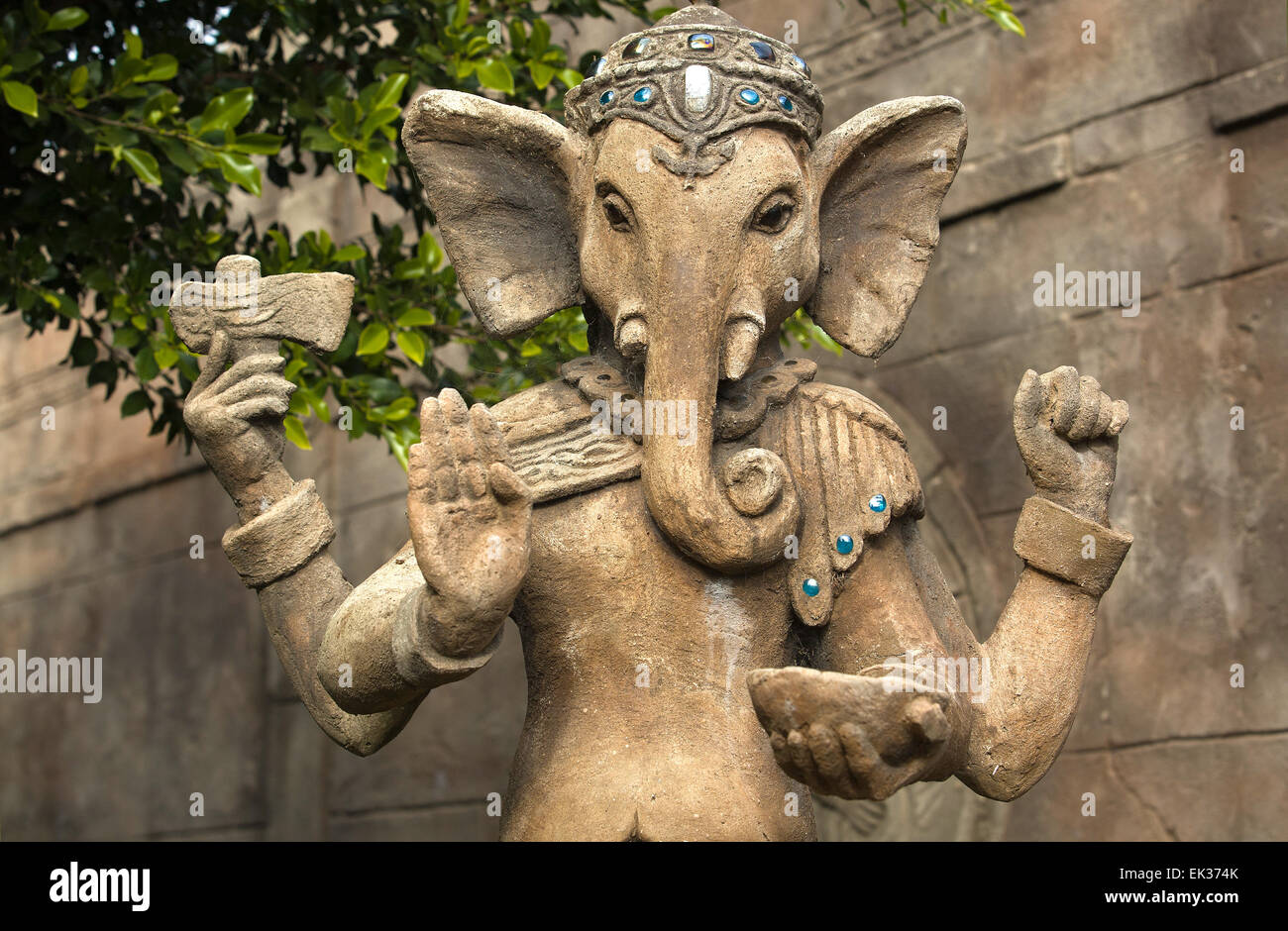 Ganesha's elephant head makes him particularly easy to identify, widely revered as the Remover of Obstacles - Stock Image