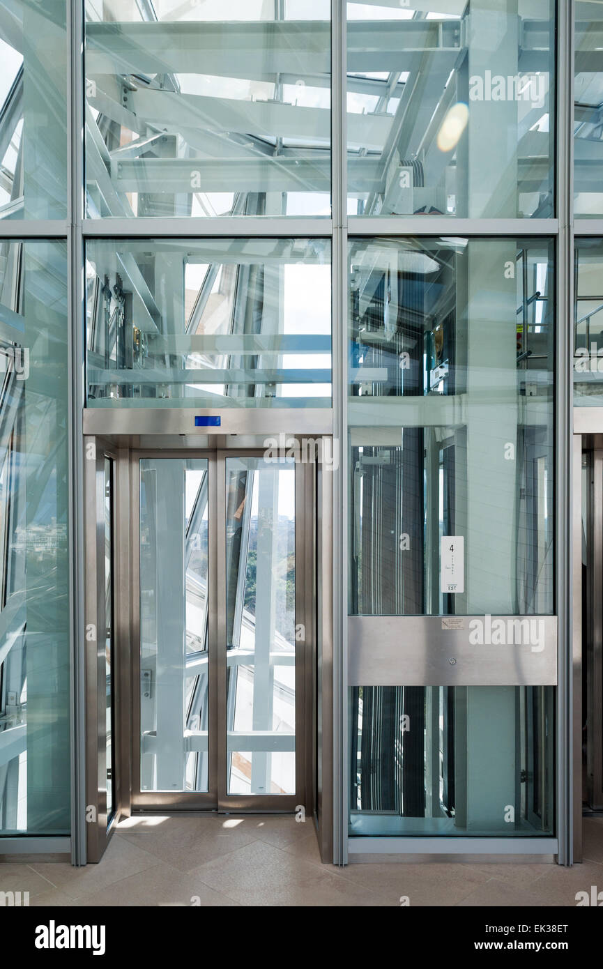 France Paris elevator doors of the Fondation Louis Vuitton & France Paris elevator doors of the Fondation Louis Vuitton Stock ...