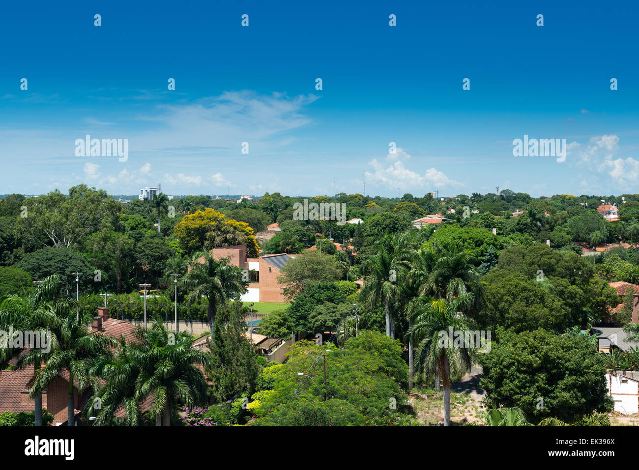 View of a residential neighborhood at Asuncion, Paraguay - Stock Image