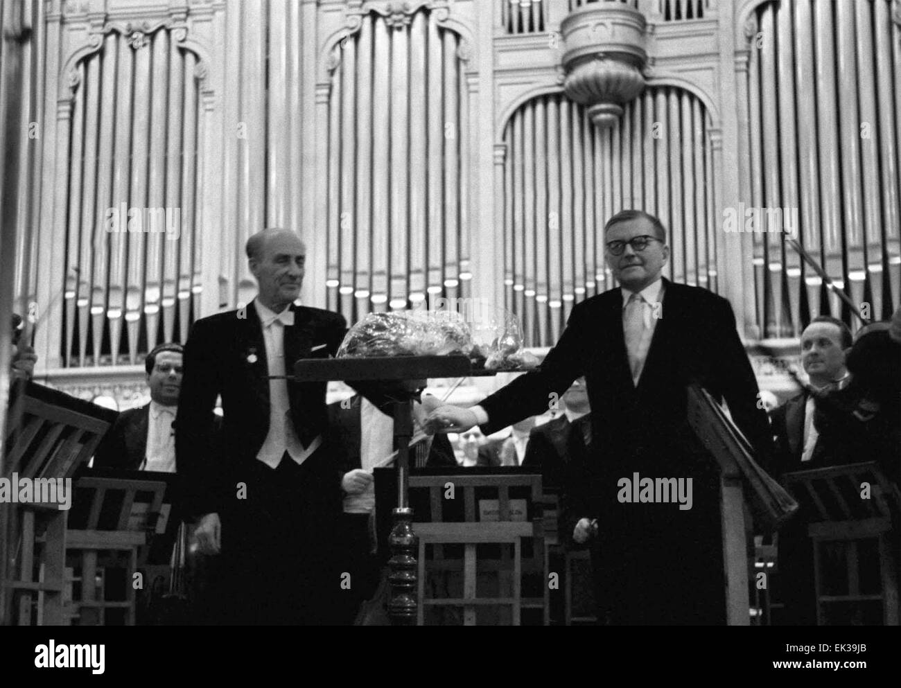 MOSCOW. The Symphony Orchestra of the Leningrad Philharmonic gave a concert at the Grand Hall of the Moscow Conservatory. - Stock Image