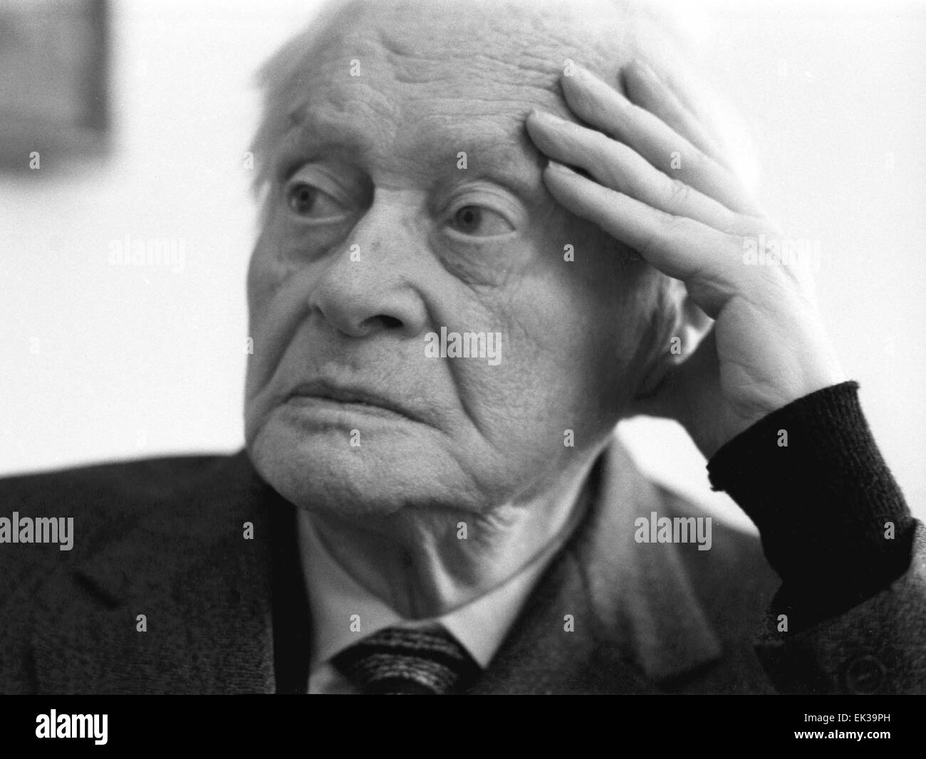 Head of the Central Puppet Theatre and Peoples' Artist of the USSR Sergei Obraztsov. - Stock Image