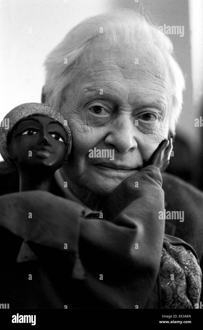 Peoples' Artist of the Soviet Union and Hero of the Socialistic Labor Sergei Obraztsov. - Stock Image