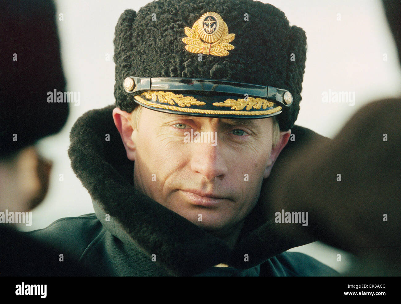 SEVEROMORSK, RUSSIA. TAS17.MOSCOW, RUSSIA. , April 6 - Russian President-elect Vladimir Putin pictured observing - Stock Image