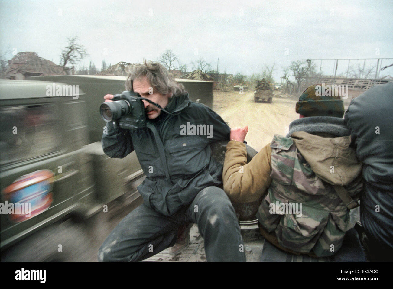 Russia. Chechnya. The picture shows Alexander Zemlyanichenko, a photo correspondent of the Associated Press Agency, - Stock Image