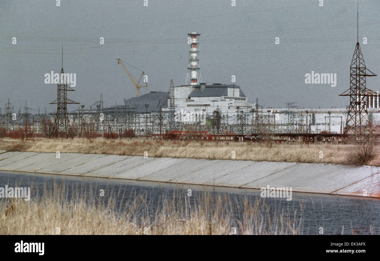UKRAINE. The Chernobyl Nuclear Power Plant a decade after the April 1986 disaster. - Stock Image
