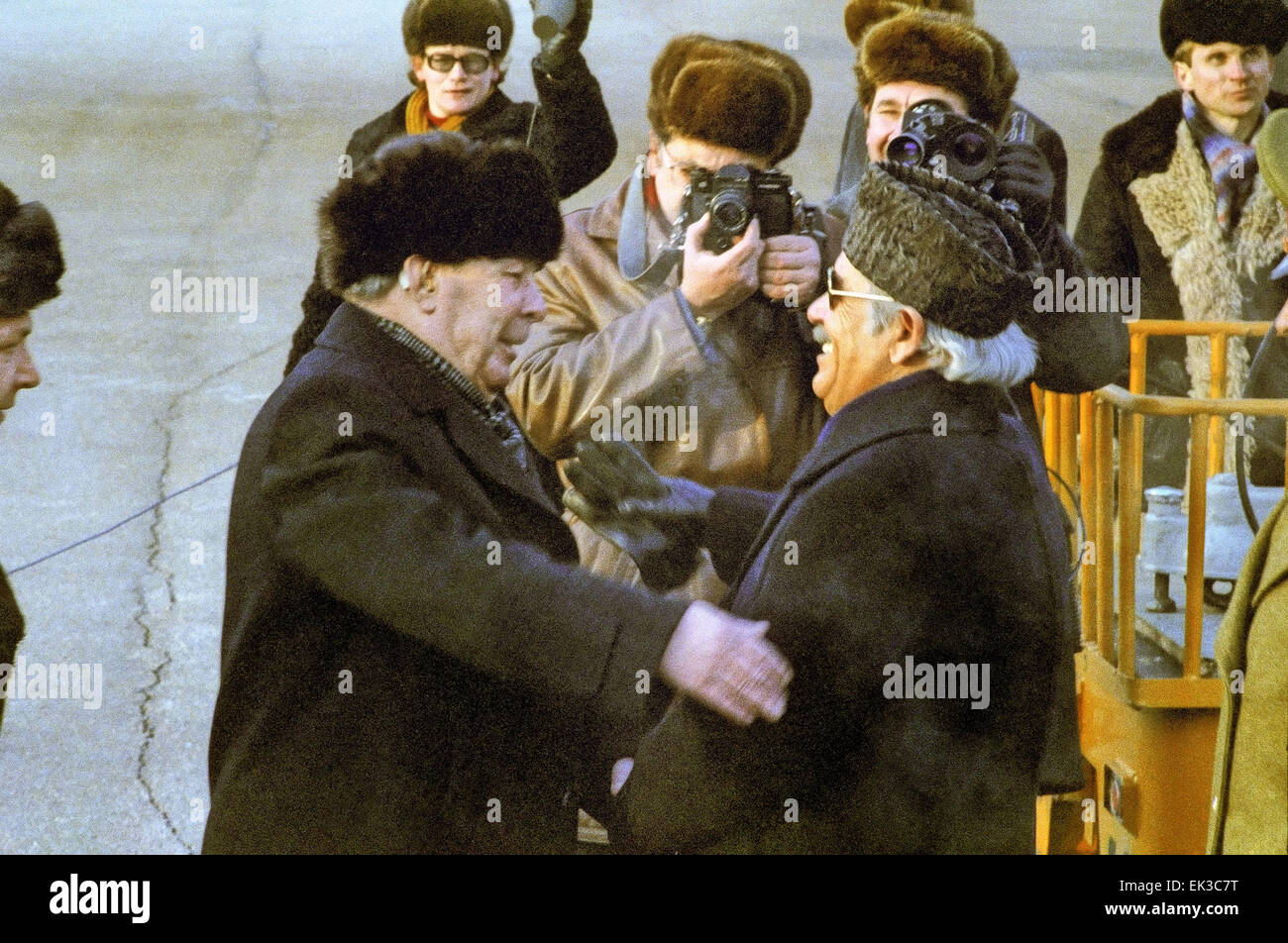 Moscow. General Secretary of the Central Committee of the CPSU Leonid Brezhnev L meets with Prime Minister of Afghanistan - Stock Image