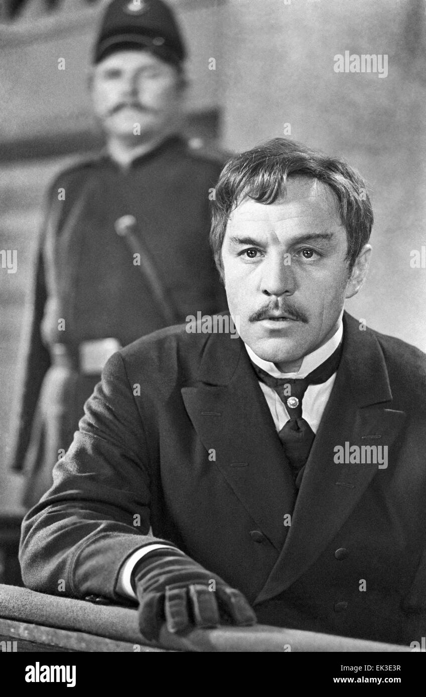 Moscow. Actor Mikhail Ulyanov as Dmitry Karamazov in a still from Ivan Pyryev's movie 'The Brothers Karamazov' - Stock Image