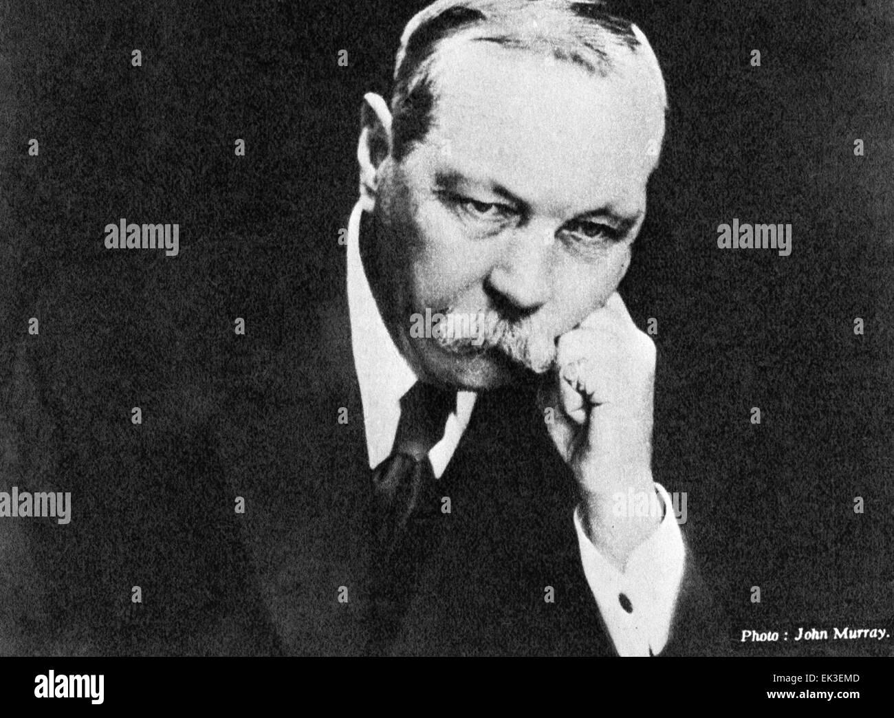 English writer Sir Arthur Conan Doyle. - Stock Image