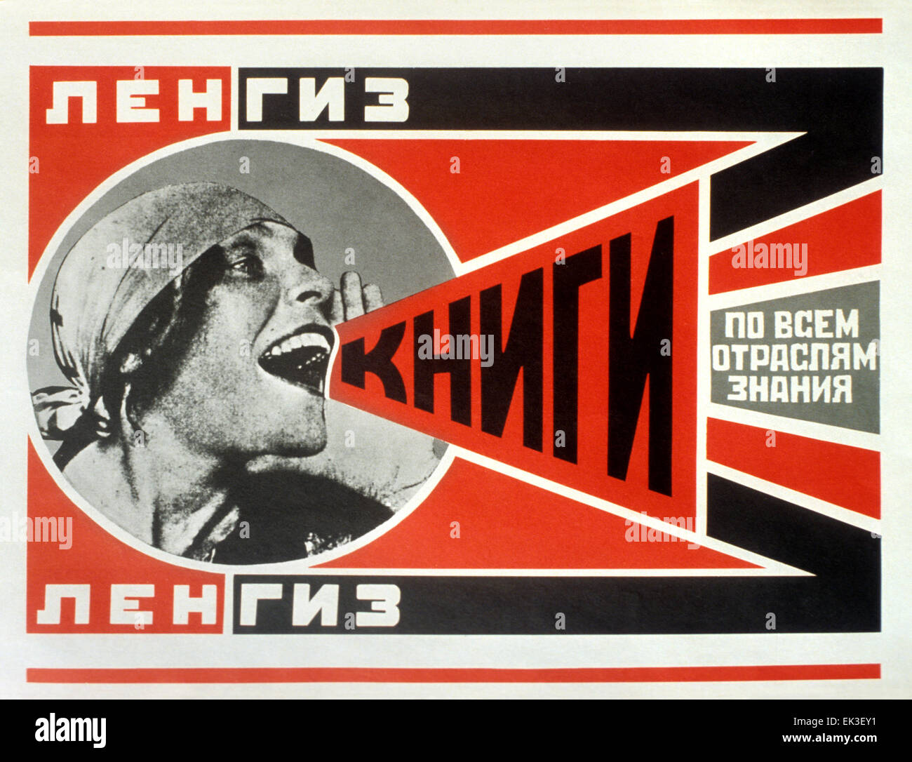 LenGiz Books All Knowledge Sectors Soviet Propaganda Poster USSR Russian 1925