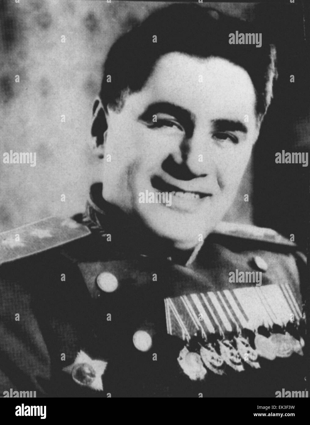 Pictured in this reproduced file image is Pavel Anatolyevich Sudoplatov 1907-1996, a KGB lieutenant general and - Stock Image