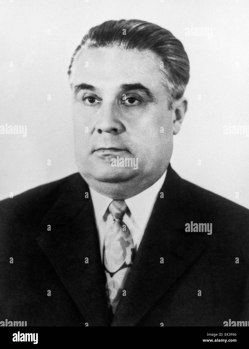 MOSCOW, USSR. Minister of Internal Affairs of USSR Vitaly Vasilyevich Fedorchuk, KGB chief, Soviet interior minister, - Stock Image