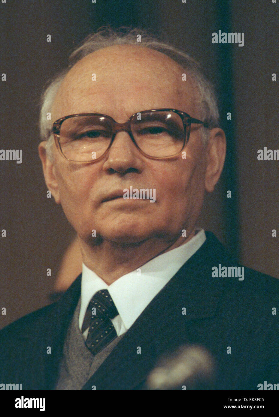 MOSCOW. Pictured here is former KGB chairman Vladimir Alexandrovich Kryuchkov in office 1988 - 1991. - Stock Image