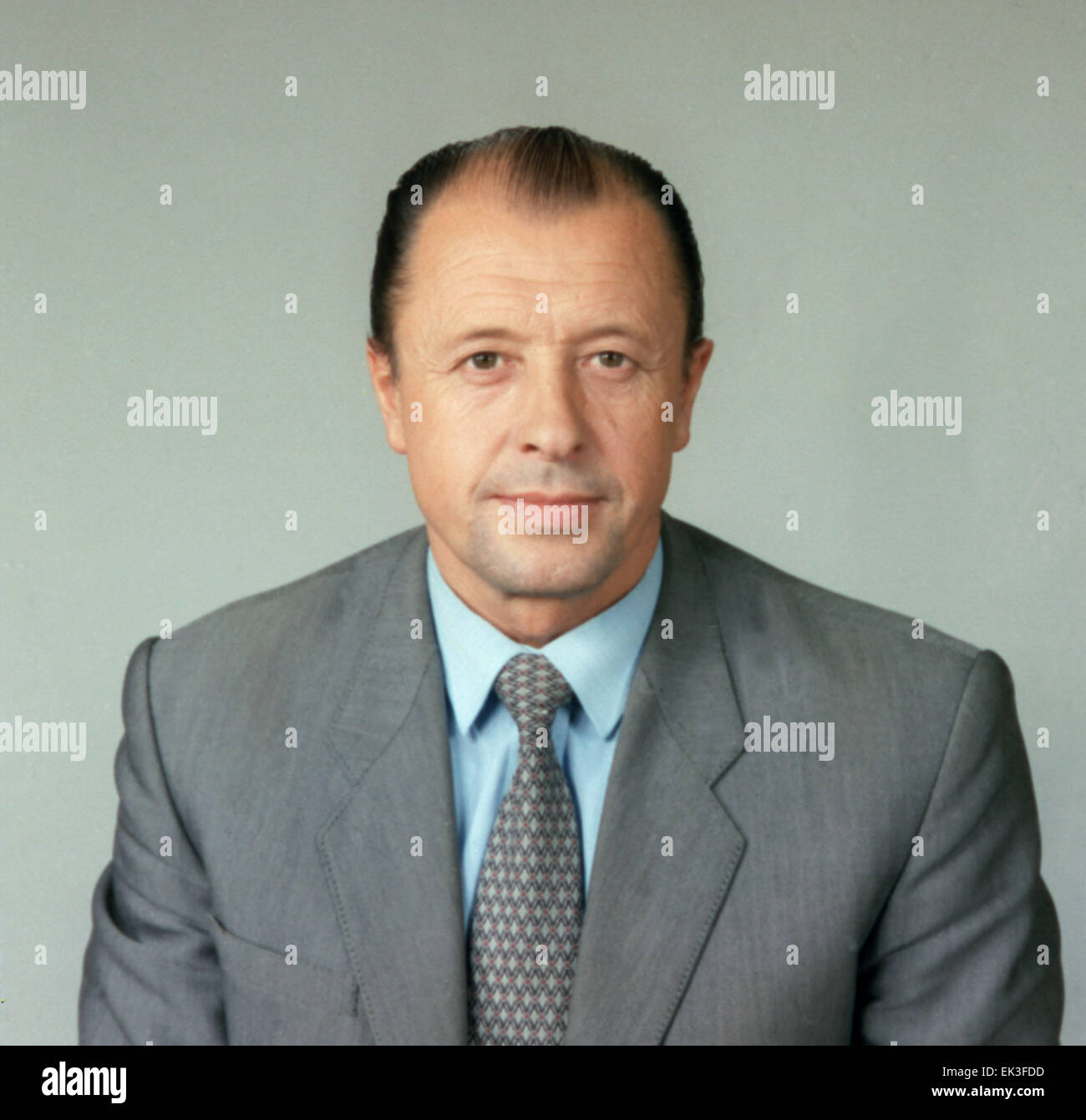 Moscow. Mayor General of KGB Vladimir Medvedev. - Stock Image