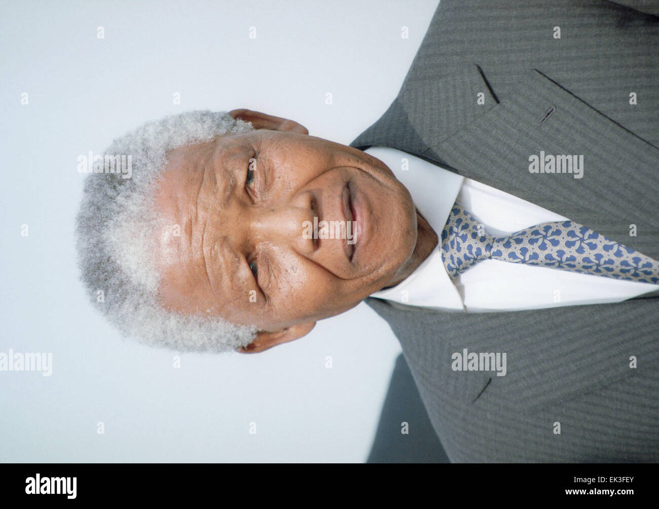 MOSCOW. President of South Africa Nelson Mandela. - Stock Image