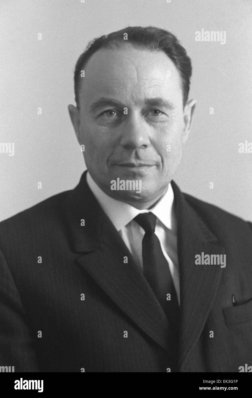 Corresponding member of the Soviet Academy of Sciences and Deputy head of the Budker Institute of Nuclear Physics Stock Photo
