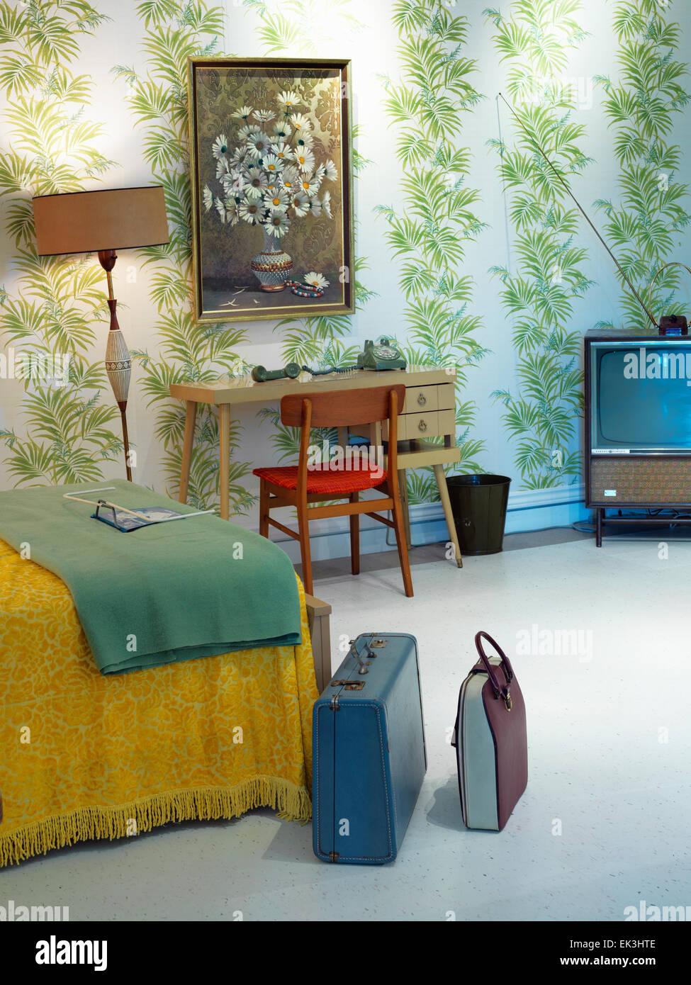 Canada,Ontario,Niagara Falls, museum display of 1960's era motel - Stock Image