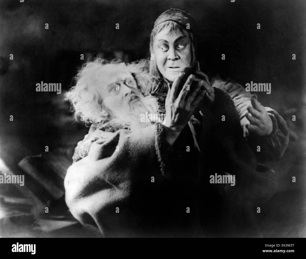 Gosta Ekman, Emil Jannings, on-set of the Silent Film 'Faust', 1926 - Stock Image