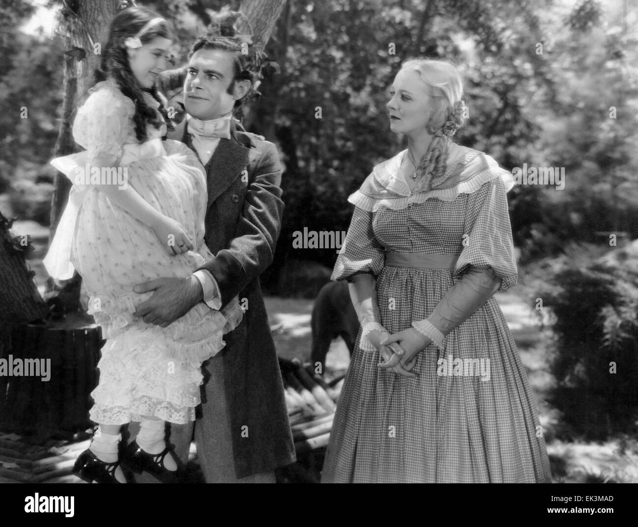 Edith Fellows, Colin Clive, Virginia Bruce, on-set of the Film 'Jane Eyre', 1934 - Stock Image