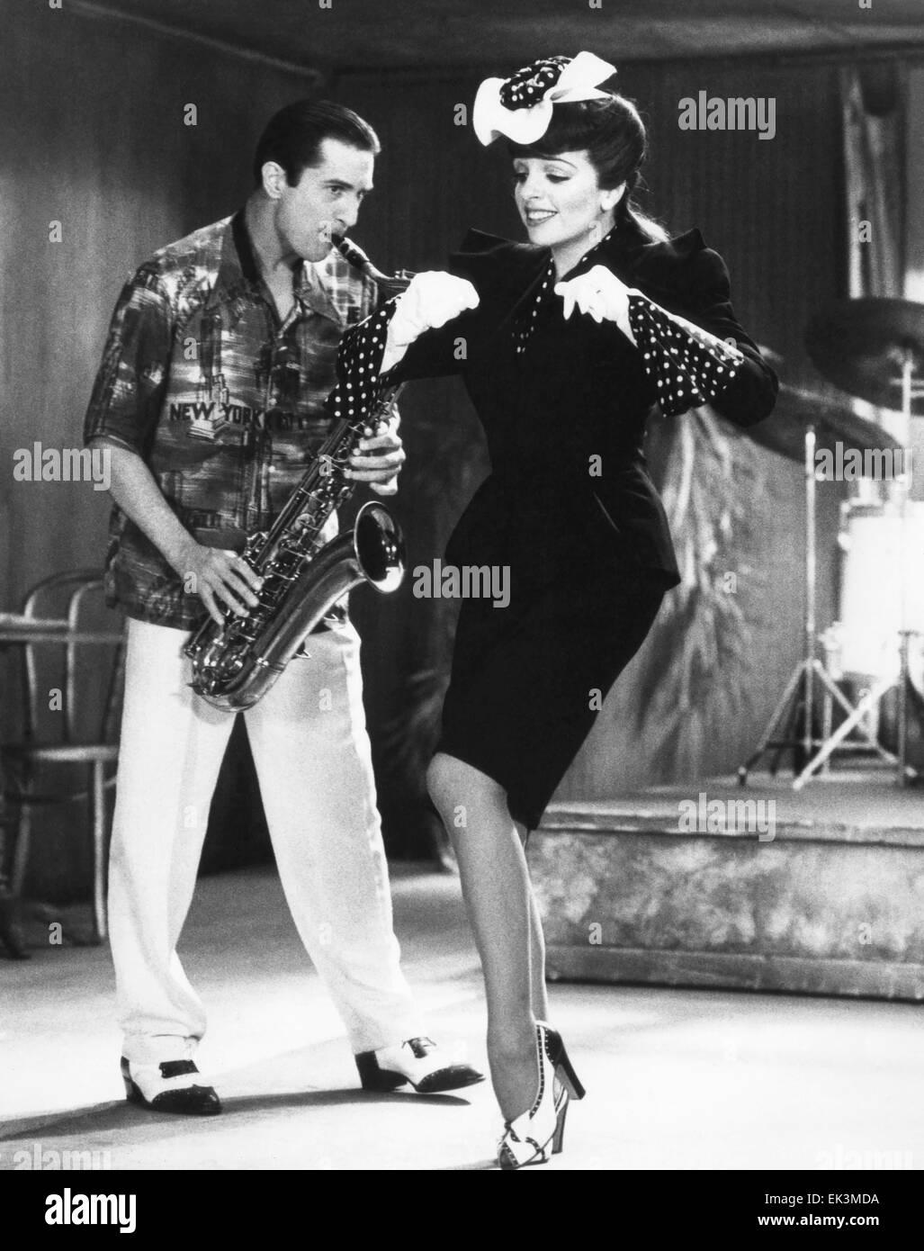 Robert De Niro, Liza Minnelli, on-set of the Film 'New York, New York', 1977 - Stock Image