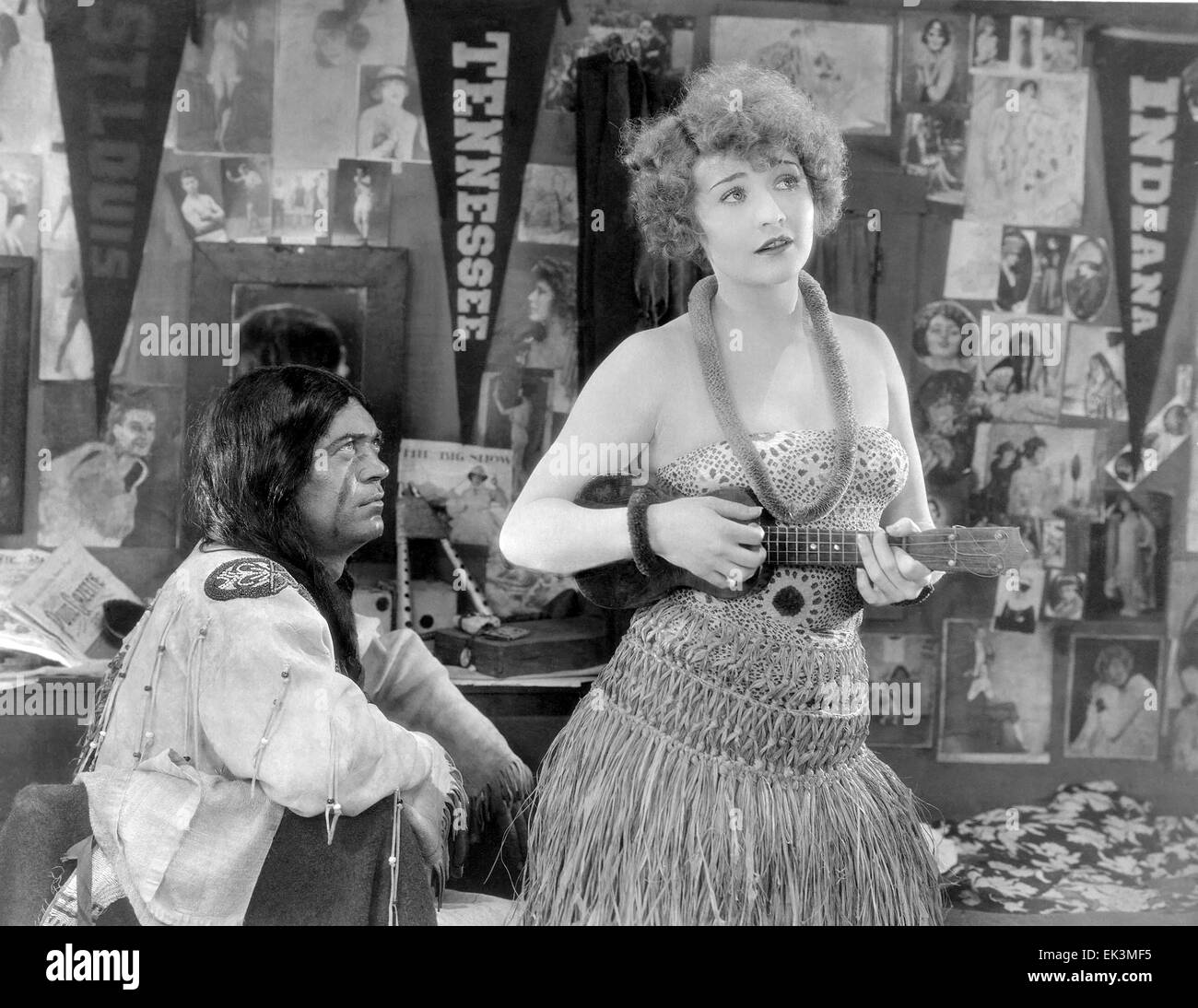 Betty Compson, on-set of the Silent Film 'Scarlet Seas', 1928 - Stock Image