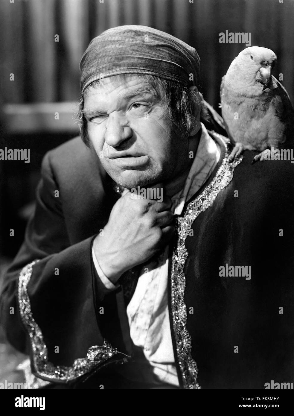 Wallace Beery, on-set of the Film 'Treasure Island', 1934 - Stock Image