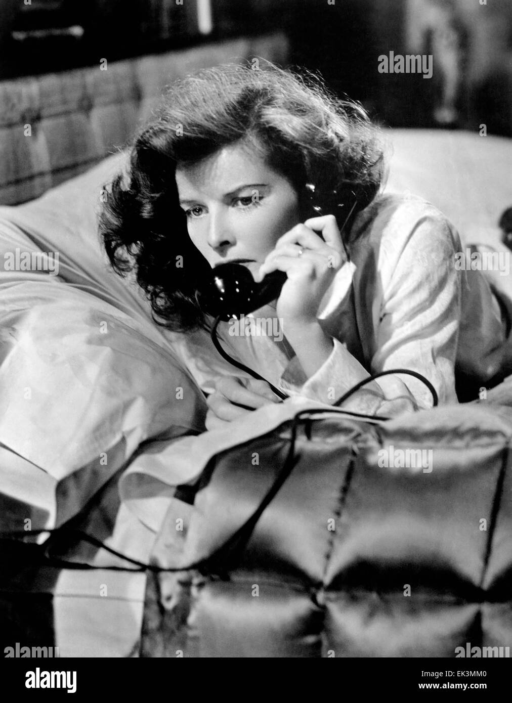 Katharine Hepburn, on-set of the Film 'Woman of the Year', 1942 - Stock Image